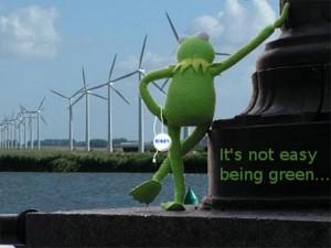 kermit met de groene knop
