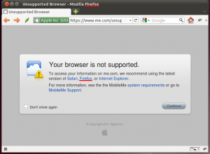 Apple MobileMe wil Firefox, zelfs als het Firefox krijgt.